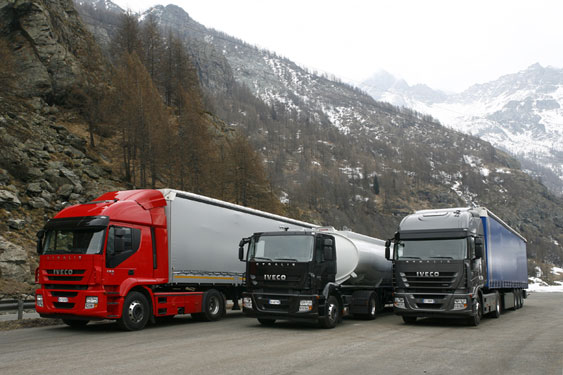Check out the different-sized Iveco Stralis Cabs side by side