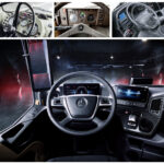 A contraxt of old & new Truck interiors from Mercedes