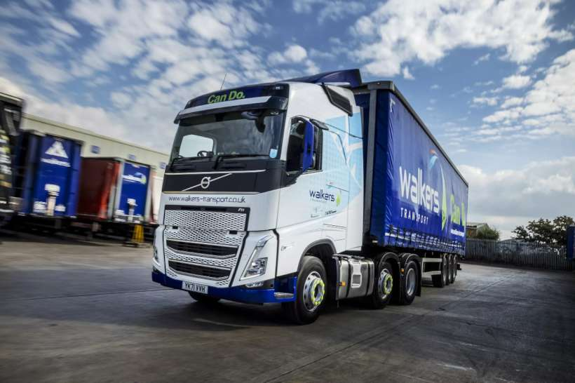 Volvo FH Walkers in white